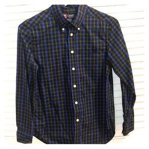 Medium Chaps Navy and green Button shirt